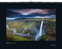 Island Kalender 2021 - 45 x 60 - Black Edition - Kunth