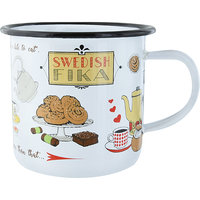 Swedish Fika - Emaille Tasse
